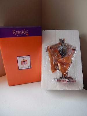 Department 56 Halloween (NEW) Krinkles DRACULA FATHER CAT - 8.5""