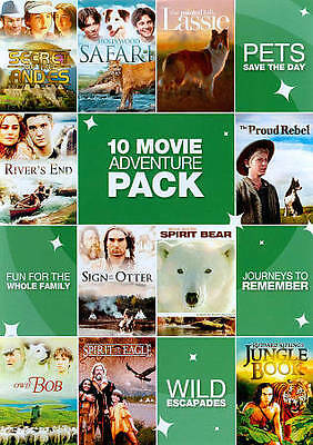 10 Movie Adventure Pack, Vol. 1 (DVD, 2011, 2-Disc Set) Disc Only