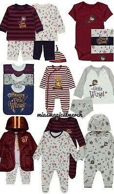 Brand New Baby Boy's Harry Potter Little Wizard Clothing 8 To Choose From
