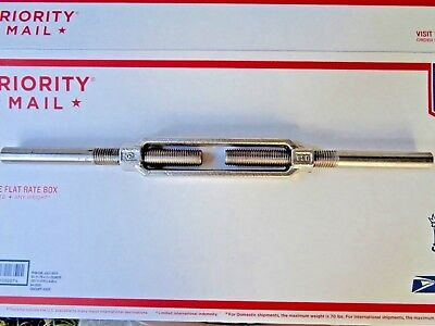 New Turnbuckle Forged 304 Buckle 316 Stubs Electro Polished 3/4-10Tpi Steampunk
