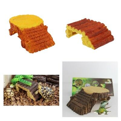 Pet Reptile Vivarium Turtle Lizard Breeding House Hide Basking Landscape Decor
