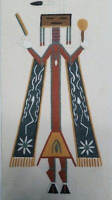"""The Four Season"" Jerry Toledo: Vintage Navajo Sand Painting"