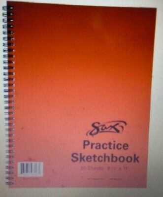 Sax Spiral Binding Smooth Sketchbook, 8-1/2 x 11 Inches, 50 Sheets, White