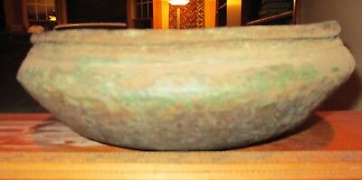 "Hallstatt (c. 800 BC) Celtic bronze bowl (bowl in bowl), opening 9 5/8"" across"