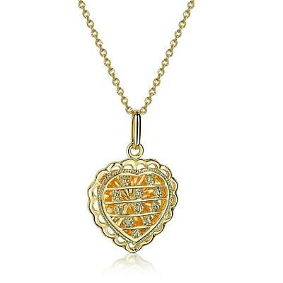 Set Women Necklace with Heart Pendant 750er Gold 18k Gold Plated Gift A1687