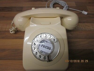 Old style BT telephone with cord -  Cream -  Fully Working