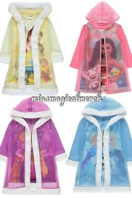 Brand New Girl's Disney Nightdress With Cape Frozen, Rapunzel, Moana, Belle