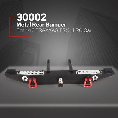 Metal Rear Bumper + LED Light for 1/10 TRAXXAS TRX-4 Axial SCX10 RC Crawler