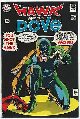 HAWK AND DOVE #5 May 1969 VF 8.0 W GIL KANE Cover Art TEEN TITANS App DC Comics