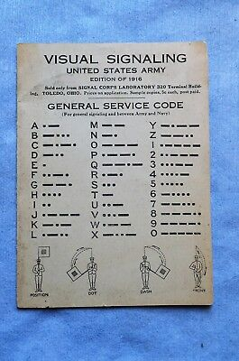 Mexican Border Era U.S. Army Visual Signaling Pamphlet, 1916 by the Signal Corps