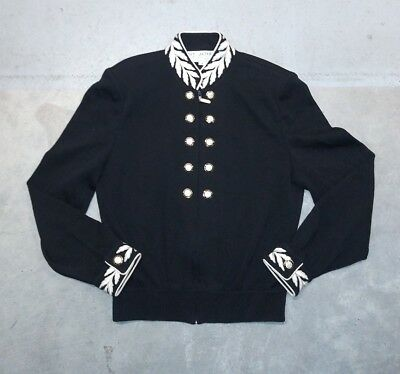 Vintage St John Collection By Marie Gray Jacket Knit Embroidered Detail Size S