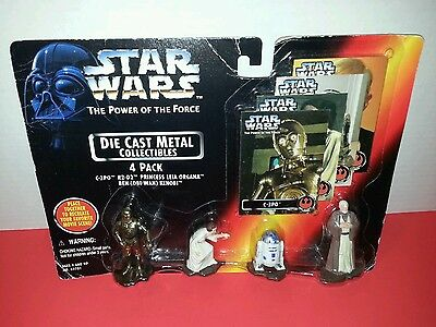 Star Wars The Power of the Force Die-Cast Metal Collectibles 4 Pack 1995 #69781