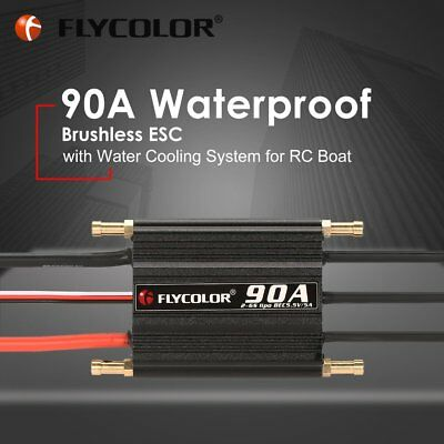 FLYCOLOR 2-6S 90A Waterproof Brushless ESC 5.5V/5A BEC for RC Boat Ship