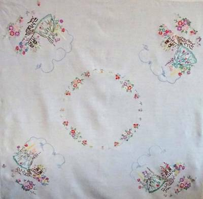 Vintage, Embroidered, Crinoline Lady Table-cloth.