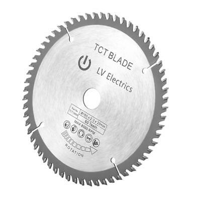 165mm 60T 20mm Bore TCT Circular Saw Blade Disc for Dewalt Makita Ryobi Bosch