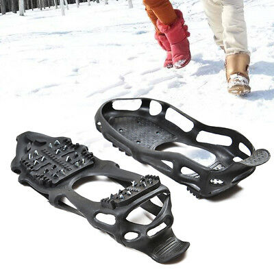 Uk Snow Anti Slip Ice Grippers For Boots Shoes Grips Overshoe M L Xl Sizes