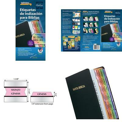 Bible Tab-Spanish-Rainbow Colored 90 Tabs