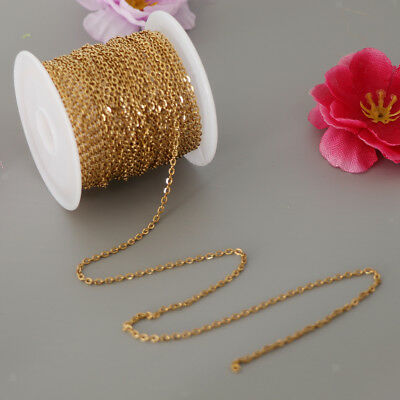 Bulk Roll Cable Chain Spool 20 Feet Gold Color 6 Meters For Jewelry Making