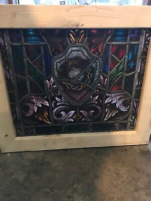 SG2660 antique painted in fired Window crown of thorns 26.5 x 27.5
