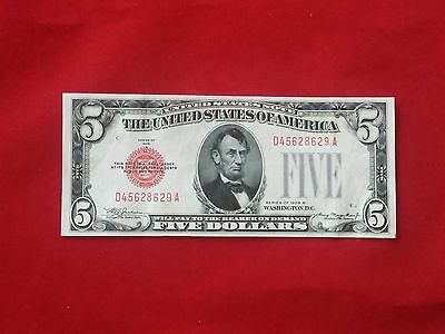 FR-1527  1928 B Series $5 Red Seal US Legal Tender Note *Extremely Fine*