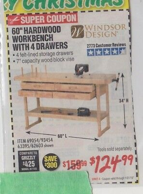 Harbor Freight Save 300 Coupon For 60 Hardwood Workbench With