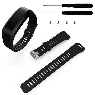 UK NEW Universal Replacement Silicone Band Strap w/ Tool for Garmin Vivosmart HR