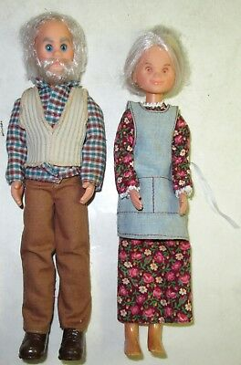 Vintage 1973-75 THE SUNSHINE FAMILY Grandparents Made in Taiwan by Mattel