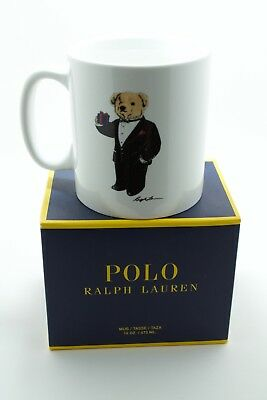 Polo Ralph Lauren Tuxedo Martini Teddy Bear coffee mug 2017 New with Box