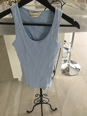Peter Alexander Size XS baby Blue Pj Singlet Top Pre Owned In Excellent