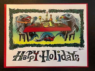 Phish Jim Pollock Happy Holidays Card 2001 Official - NOT Print / Poster