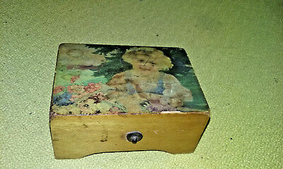 Antique Swiss Switzerland one Tune Cylinder Music Box for Repair NR