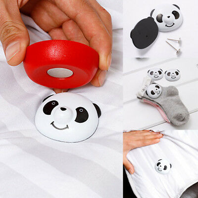 Cute Panda Buckle Bed Sheet Non-Slip Quilt Cover Anti-Move Buckle Fixer Clip