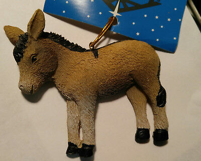 NEW - Donkey Christmas Tree Ornament w Cross on Back - Cross Legend - Decoration