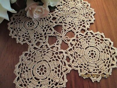 Vintage Hand Crocheted Lace Table Centre - Made In Europe