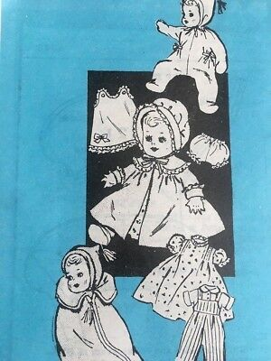 """Vintage Mail Order Printed Uncut Pattern 4870 Clothes For A 14"""" Doll"""