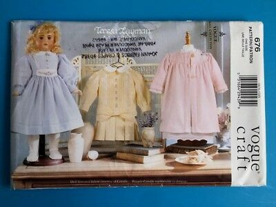 """Vogue Craft Uncut OOP Pattern 676 Teresa Layman 18 """" Doll Clothes Collection"""