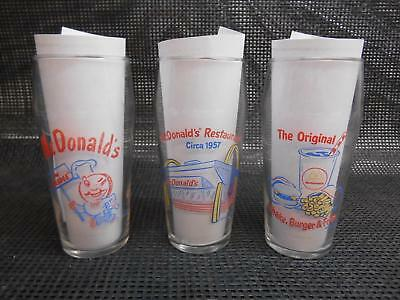 1995 McDONALDS Fast Food Restaurant GLASS TUMBLERS Retro Advertising Glasses 3
