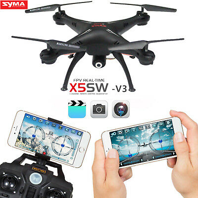 Syma X5SW-V3 Wifi Explorers 2.4G RC Headless Quadcopter Drones with HD Camera BR