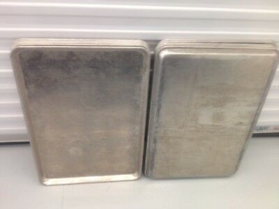 Lot 10 CLEAN Commercial Kitchen Food Cooking Baking Full Size 18x26 Sheet Pans