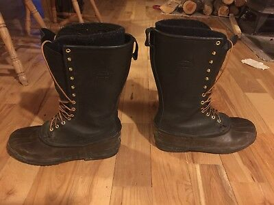 """Hoffman Mountaineer Felt Lined Pac Boot, Size 12, Excellent, 14"""" Tall"""