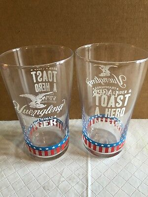 Yuengling Lager VFW Beer Pint Glass New Set Of 2