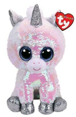 "Ty Sequins Flippables Beanie Boos 6"" Diamond MWMT 2018"