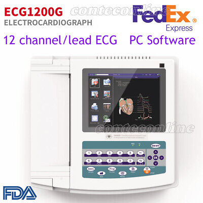 CONTEC ECG1200G Digital 12 channel/lead EKG+PC Sync software Electrocardiograph