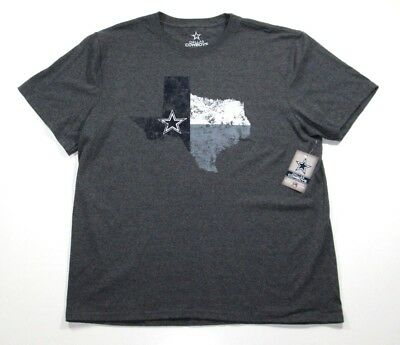 NFL Dallas Cowboys Men s Texas Map Team Pride Charcoal Short Sleeve Shirt  jersey 8aeb3da75