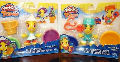 2 Play-Doh Town Ice Cream Girl Modeling Set  And Doctor  Ages 3+ New In Package