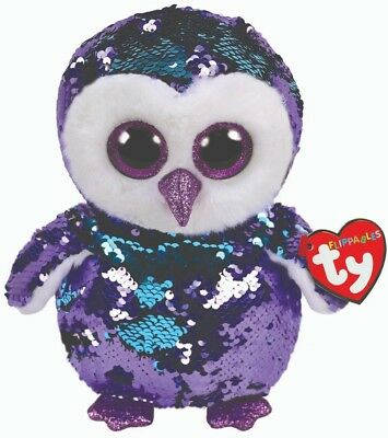 "Ty Sequins Flippables Beanie Boos 10"" Moonlight MWMT 2018"