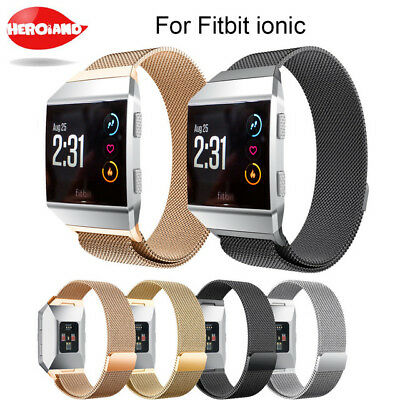 Milanese Loop Mesh Wrist Watch Band Stainless Steel Metal Strap for Fitbit Ionic