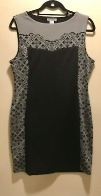 Great Conditioned Pre-Owned Gray & Black Patterned H&M Dress