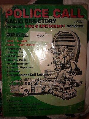 Radio Shack Police Call Radio Guide Vintage 1982 Edition Soft Cover Scanner Code