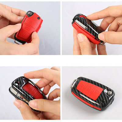 For Audi TT Car Key Protective Case Remote Flip Key Chain Cover Fob Durable